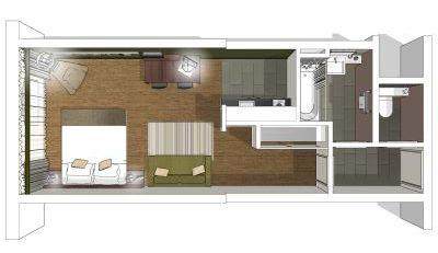 Citadines south kensington london hotels united for Amenagement studio 25m2
