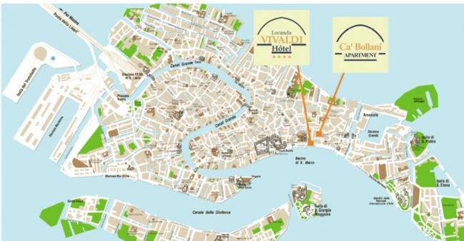 Ca Bollani Apartment Venice Hotels Italy Map Small